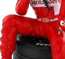 "Alonso ""Pondering another win"" Sticker"