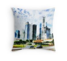 Singapore is reaching for the stars  Throw Pillow