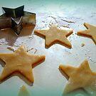 Christmas Cookie Cutter Green Stars by Pamela Burger