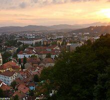 Goodnight Ljubliana, Slovenia by Cliff Williams