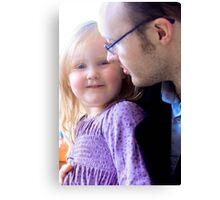 Imagen & Daddy Canvas Print