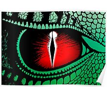 Red Dragons Eye Design Poster