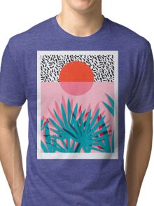 Whoa - palm sunrise southwest california palm beach sun city los angeles hawaii palm springs resort decor Tri-blend T-Shirt