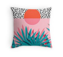Whoa - palm sunrise southwest california palm beach sun city los angeles hawaii palm springs resort decor Throw Pillow