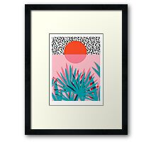 Whoa - palm sunrise southwest california palm beach sun city los angeles hawaii palm springs resort decor Framed Print