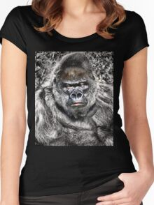 Gorilla - Who's The Daddy Women's Fitted Scoop T-Shirt