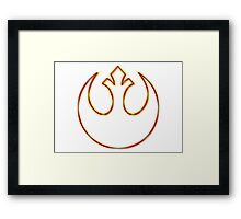 Rebel Alliance Emblem (Acid Scheme) Framed Print