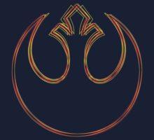 Rebel Alliance Emblem (Acid Scheme) Baby Tee
