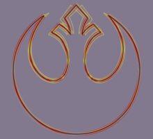 Rebel Alliance Emblem (Acid Scheme) Kids Tee