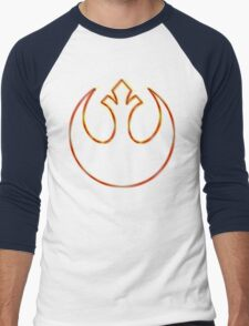 Rebel Alliance Emblem (Acid Scheme) Men's Baseball ¾ T-Shirt