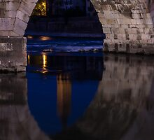 Under the Arch, Ponte Pietra, Adige River, Verona Italy by Cliff Williams