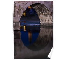 Under the Arch, Ponte Pietra, Adige River, Verona Italy Poster