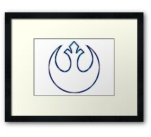 Rebel Alliance Emblem (Alkali Scheme) Framed Print
