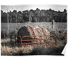 Hay Bale in Quincy Poster