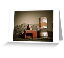 Barn & Silo  Greeting Card