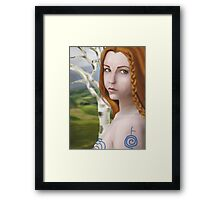 Goddess Cerridwen - Birch Framed Print