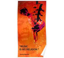 music is my religion Poster
