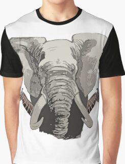 Elephant Giraffes  Graphic T-Shirt