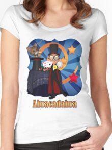 Abracadabra Magician T Shirt  Women's Fitted Scoop T-Shirt