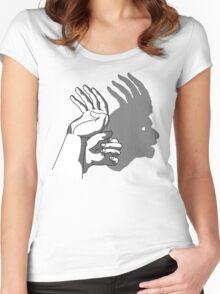 HandShadow - Indian Head Women's Fitted Scoop T-Shirt