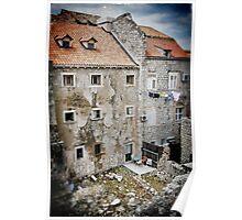 Backyards of Dubrovnik Poster
