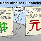 Le trading du forex et options binaires en dessin comique by BinaryOptions
