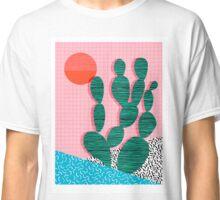 'Sup - cactus throwback retro memphis style neon art print 80s 1980s pop art desert socal  Classic T-Shirt