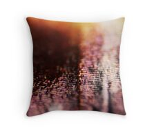 Butterfly wing scales macro Throw Pillow