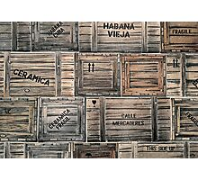 Packing Crates Photographic Print