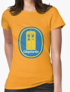 """Chiquitardis"" Troubleless And Rapid (banana) Delivery In Space Womens Fitted T-Shirt"