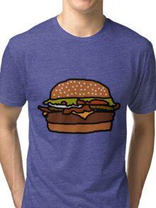 Badly Drawn Burger Tri-blend T-Shirt