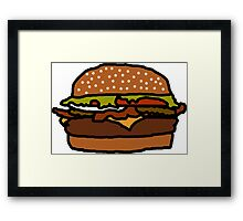 Badly Drawn Burger Framed Print