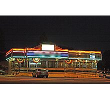 Diner at night Photographic Print
