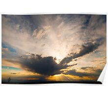 Dramatic Summer Sunset Poster