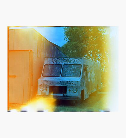 Old Truck With Graffiti Photographic Print