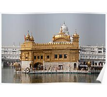 The Golden Temple in Amritsar - with the Amrit Sarovar and the Darbar Sahib Poster