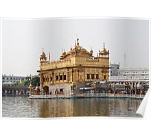 Angular view of the Golden Temple in Amritsar Poster