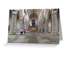 Inside Exeter Cathedral, Exeter, Devon. Greeting Card