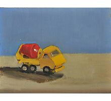 toy cement truck Photographic Print