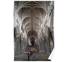 The interior of Exeter Cathedral, Exeter, Devon. Poster