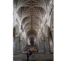 The interior of Exeter Cathedral, Exeter, Devon. Photographic Print