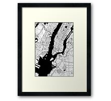 New York Toner Poster Framed Print