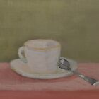 tea cup and saucer, with spoon by joycecolburn