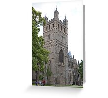 Exeter Cathedral, Exeter, Devon. Greeting Card