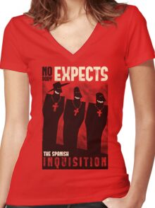 Nobody expects them! Women's Fitted V-Neck T-Shirt