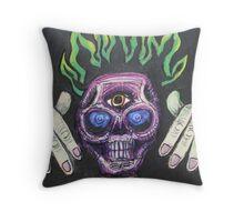 mirror demon Throw Pillow