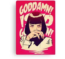 Goddamn Pulp Fiction Movie Art Canvas Print