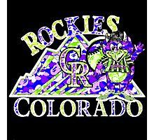 ROCKIES BLACK Photographic Print
