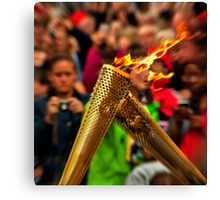 The Olympic torch exchange Canvas Print