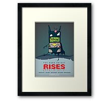The Dark Knight Rises... FROM THE GRAVE!  Framed Print